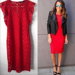 NWOT! Red Lacey Dress